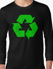 Earth Day Grunge Recycle Symbol Long Sleeve T-Shirt