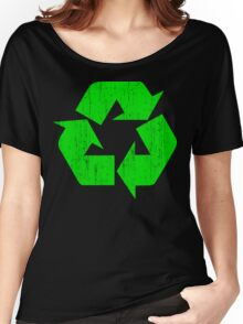 Earth Day Grunge Recycle Symbol Women's Relaxed Fit T-Shirt