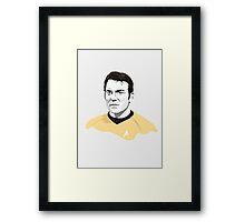 Star Trek James T. Kirk (William Shatner) illustration Framed Print