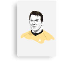 Star Trek James T. Kirk (William Shatner) illustration Canvas Print