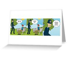 binary options news comic pound is down Greeting Card
