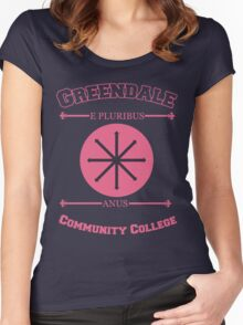 Greendale Community College E Pluribus Anus Women's Fitted Scoop T-Shirt