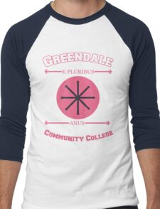 Greendale Community College E Pluribus Anus Men's Baseball ¾ T-Shirt