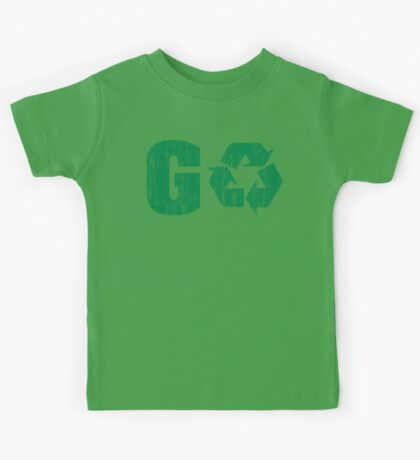 Earth Day Grunge Go Recycle Kids Tee