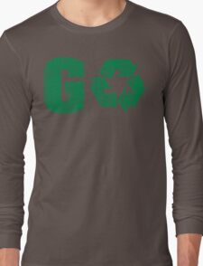 Earth Day Grunge Go Recycle Long Sleeve T-Shirt