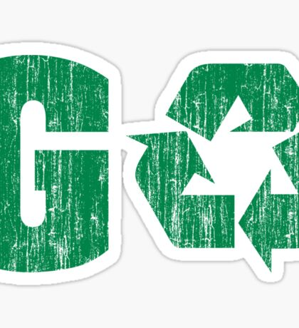 Earth Day Grunge Go Recycle Sticker