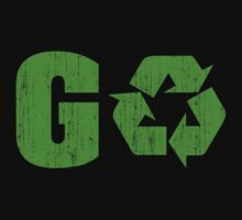 Earth Day Grunge Go Recycle by HolidayT-Shirts