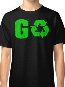 Earth Day Grunge Go Recycle Classic T-Shirt