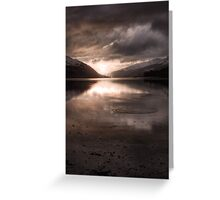 Sunset's Gold || Arrochar and Loch Long, Scotland Greeting Card