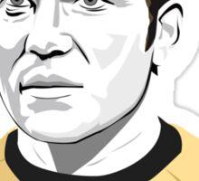 Star Trek James T. Kirk (William Shatner) illustration Sticker