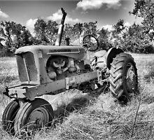 Rustic Tractor B&W by JW2Photo