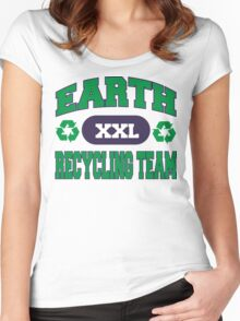 Earth Day Recycling Team Women's Fitted Scoop T-Shirt