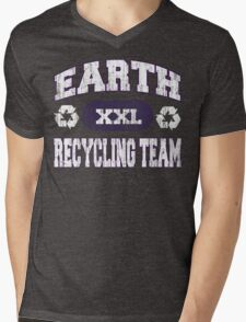 Earth Day Recycling Team Mens V-Neck T-Shirt