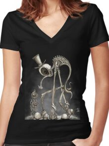 The Stroll Women's Fitted V-Neck T-Shirt