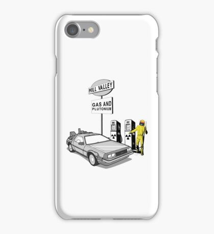 Back to the Future Delorean 'Hill Valley Gas Station' iPhone Case/Skin