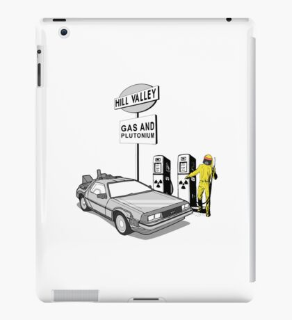 Back to the Future Delorean 'Hill Valley Gas Station' iPad Case/Skin