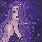 Shreya Ethnic Beauty Purple Mermaid by Renee Lavoie