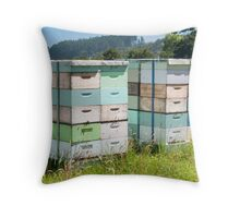 beehives 6 Throw Pillow