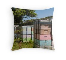 beehives 7 Throw Pillow