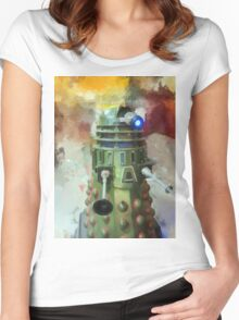 Dalek invasion of Earth, AD 2013 Women's Fitted Scoop T-Shirt
