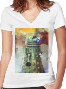 Dalek invasion of Earth, AD 2013 Women's Fitted V-Neck T-Shirt