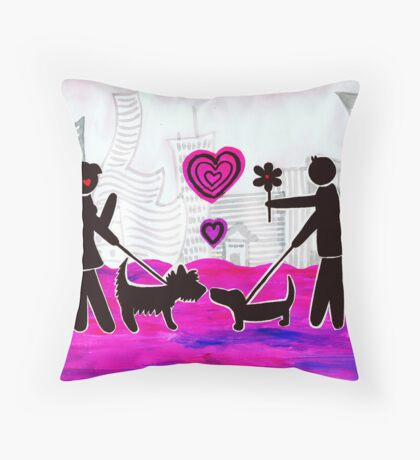 Valentines day Throw Pillow