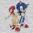 Sonic, Tails & Knuckles (Plain) by Vicousvern
