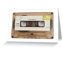 retro cassette tapes  Greeting Card