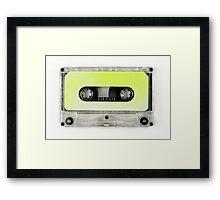 retro cassette tapes  Framed Print