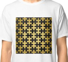 PUZ1 BK MARBLE GOLD Classic T-Shirt