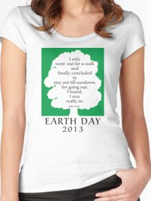 Earth Day 2013 John Muir Women's Fitted Scoop T-Shirt