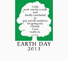 Earth Day 2013 John Muir Womens Fitted T-Shirt