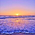 Heart Sun Beach Sunset by AstroNance