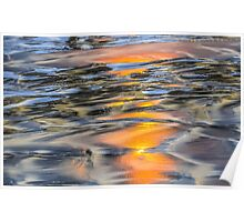 Sandy Beach Reflections Poster