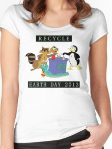 Earth Day 2013 Recycle Women's Fitted Scoop T-Shirt