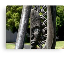 One Eyed........!  Maori carving. Canvas Print