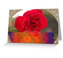 Love valentine card Greeting Card