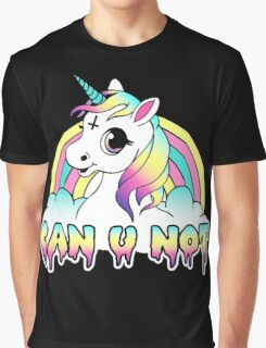 Can U Not - Pastel Goth Unicorn Graphic T-Shirt