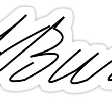 Aaron Burr's Signature Sticker