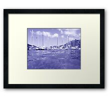 West Indies Regatta Raft Up - colorless Framed Print