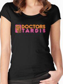 Doctors Tardis Women's Fitted Scoop T-Shirt