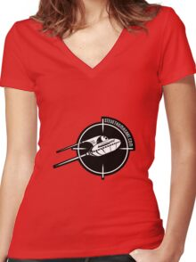 UFO logo Women's Fitted V-Neck T-Shirt