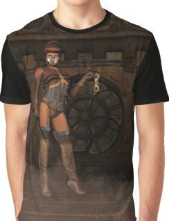 Steampunk Sally - Dominatrix Graphic T-Shirt