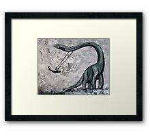 Dino Swing Framed Print