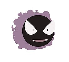 Ghastly - purple background Photographic Print