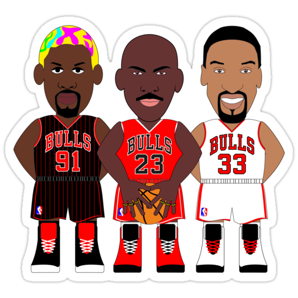 NBAToon - Michael Jordan, Scottie Pippen and Dennis Rodman by D4RK0