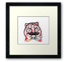 Smart Tiger Framed Print