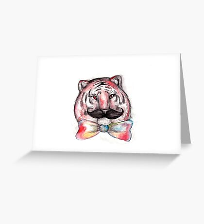 Smart Tiger Greeting Card