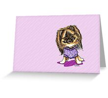 Plum Cute Pomeranian All Occasion Greeting Greeting Card
