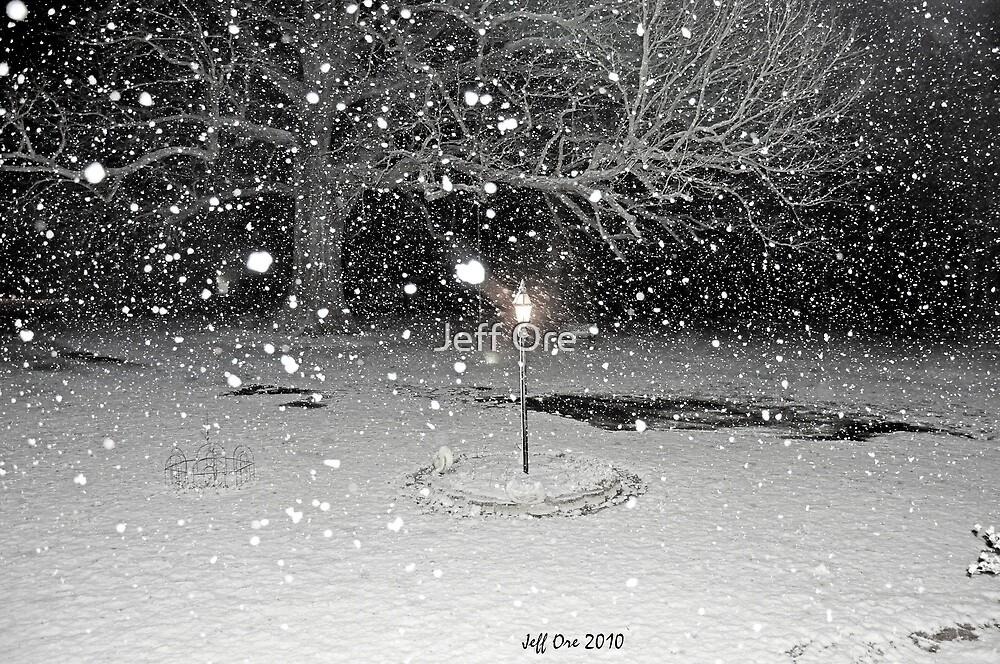 Falling Snow by Jeff Ore
